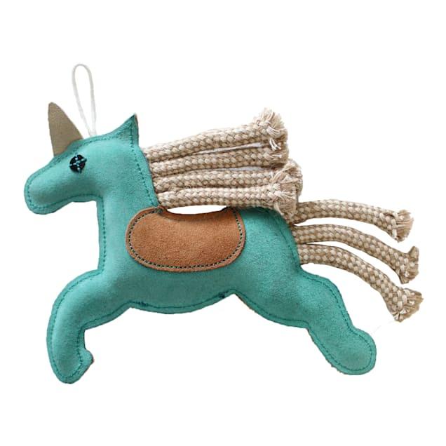 Aussie Naturals Unicorn Flattie Dog Toy, Medium - Carousel image #1