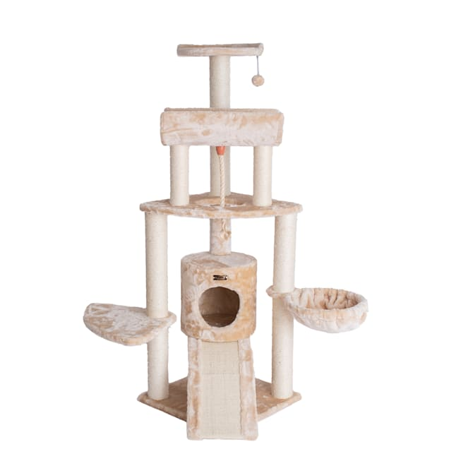 "Armarkat Beige Classic Cat Tree Model A5806, 58"" H - Carousel image #1"