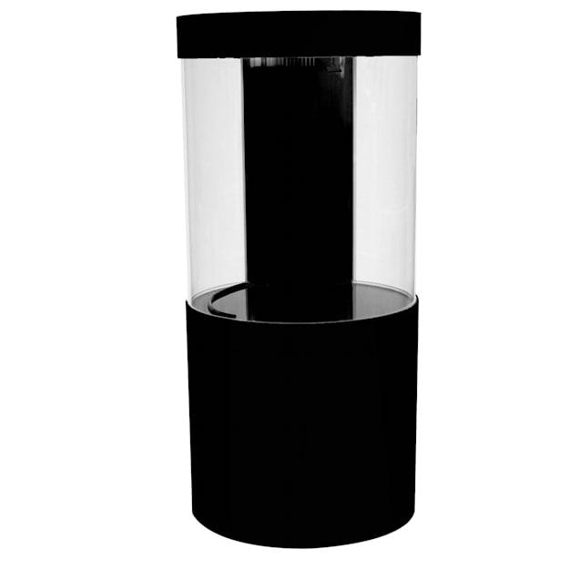 Pro Clear Acrylic Cylinder Aquarium Combo Black, 125 Gallon - Carousel image #1