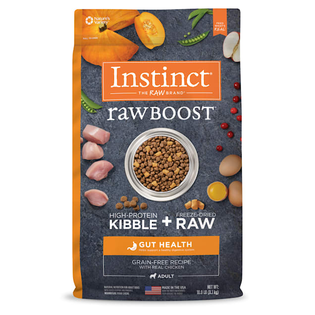 Instinct Raw Boost Gut Health Grain-Free Recipe with Real Chicken Dry Dog Food with Freeze-Dried Raw Pieces, 18 lbs. - Carousel image #1