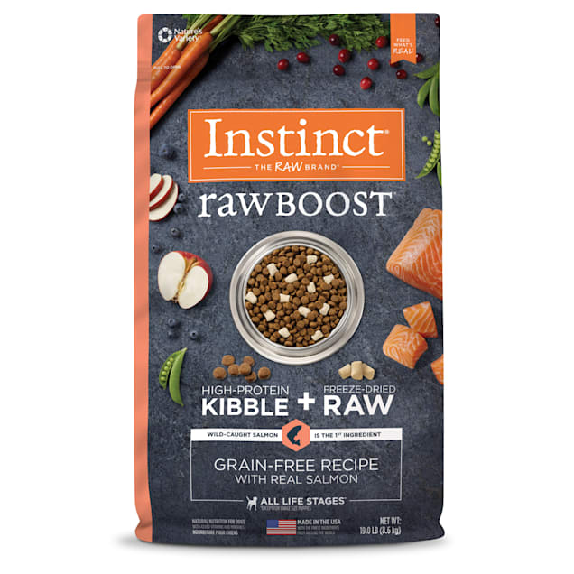 Instinct Raw Boost Grain-Free Recipe with Real Salmon Dry Dog Food with Freeze-Dried Raw Pieces, 19 lbs. - Carousel image #1