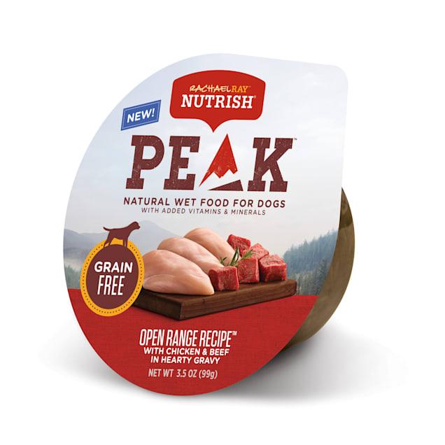 Rachael Ray Nutrish Peak Natural Grain Free Chicken & Beef In Hearty Gravy Wet Dog Food, 3.5 oz. - Carousel image #1
