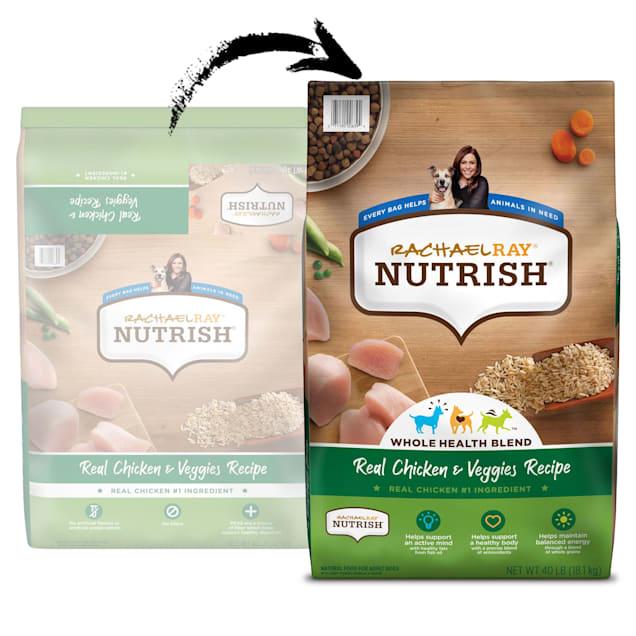 Rachael Ray Nutrish Natural Real Chicken & Veggies Recipe Dry Dog Food, 40 lbs. - Carousel image #1
