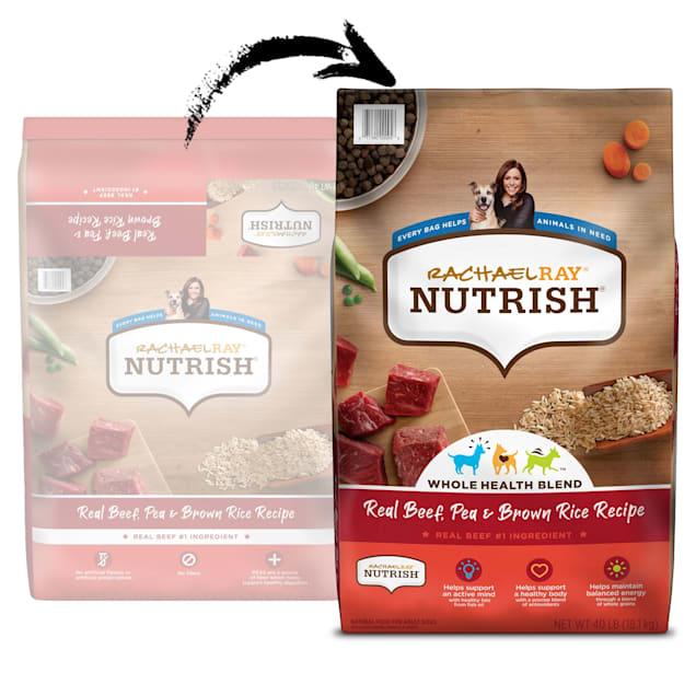 Rachael Ray Nutrish Natural Real Beef, Pea & Brown Rice Recipe Dry Dog Food, 40 lbs. - Carousel image #1