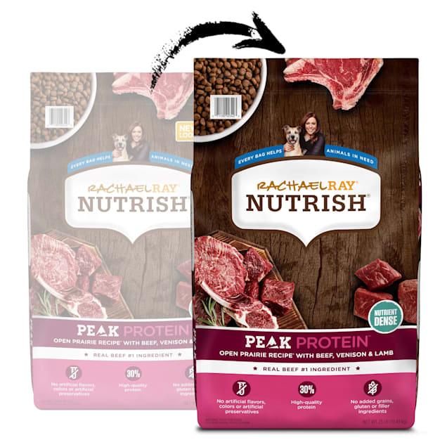 Rachael Ray Nutrish Peak Natural Grain Free Open Range Recipe With Beef, Venison & Lamb Dry Dog Food, 23 lbs. - Carousel image #1