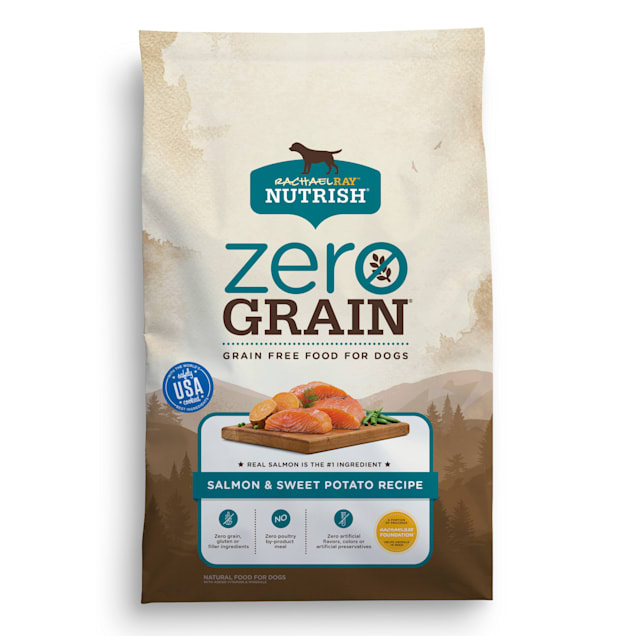 Rachael Ray Nutrish Zero Grain Natural Grain Free Salmon & Sweet Potato Recipe Dry Dog Food, 23 lbs. - Carousel image #1