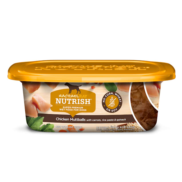 Rachael Ray Nutrish Natural Chicken Muttballs With Pasta Wet Dog Food, 8 oz., Case of 8 - Carousel image #1