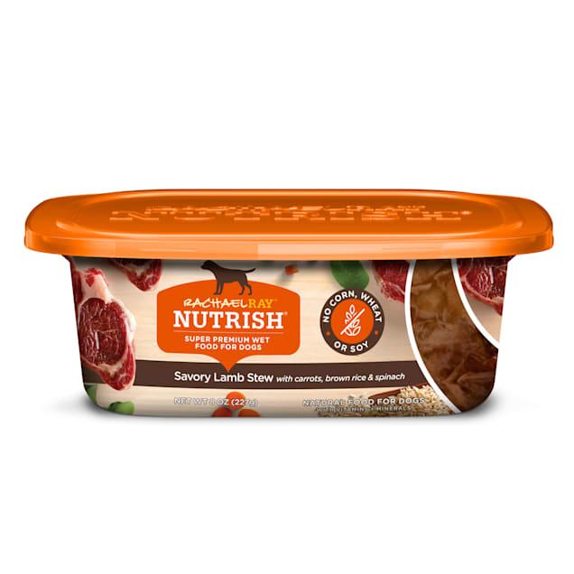 Rachael Ray Nutrish Natural Savory Lamb Stew Wet Dog Food, 8 oz., Case of 8 - Carousel image #1
