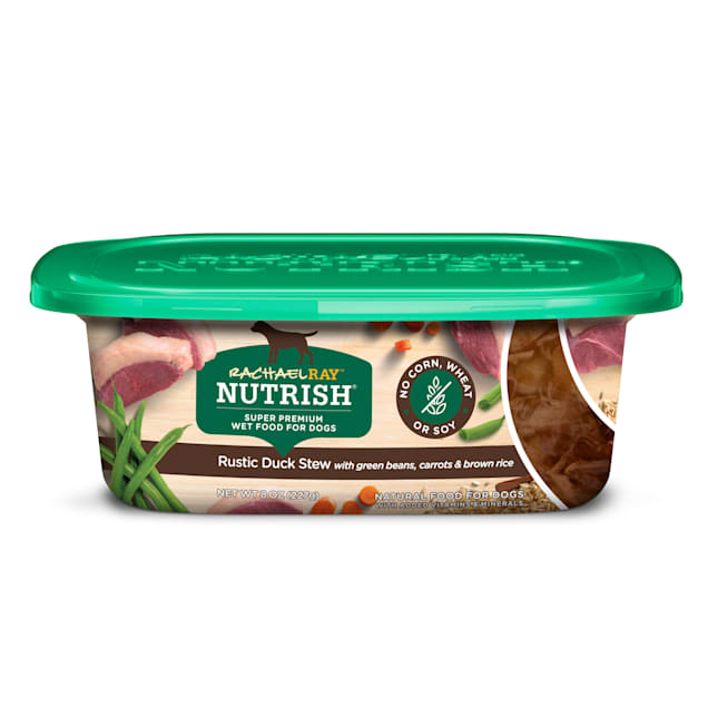 Rachael Ray Nutrish Natural Rustic Duck Stew With Green Beans, Carrots & Brown Rice Wet Dog Food, 8 oz., Case of 8 - Carousel image #1