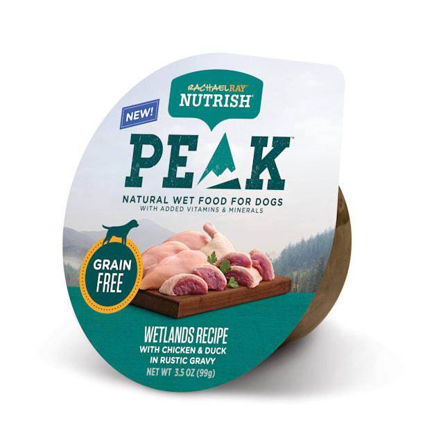Rachael Ray Nutrish Peak Natural Grain Free Wetlands Recipe With Chicken & Duck In Rustic Gravy Wet Dog Food, 3.5 oz. - Carousel image #1