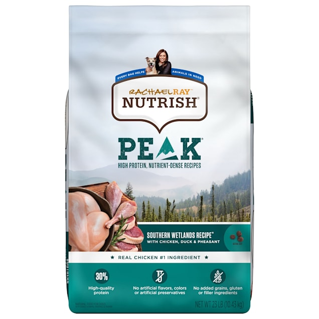 Rachael Ray Nutrish Peak Natural Grain Free Wetlands Recipe With Chicken, Duck & Pheasant Dry Dog Food, 23 lbs. - Carousel image #1