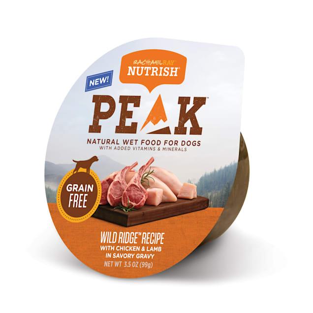 Rachael Ray Nutrish Peak Natural Grain Free Chicken & Lamb In Savory Gravy Wet Dog Food, 3.5 oz. - Carousel image #1