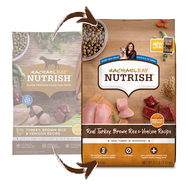 Rachael Ray Nutrish Natural Turkey, Brown Rice & Venison Recipe Dry Dog Food, 5.5 lbs. - Carousel image #1