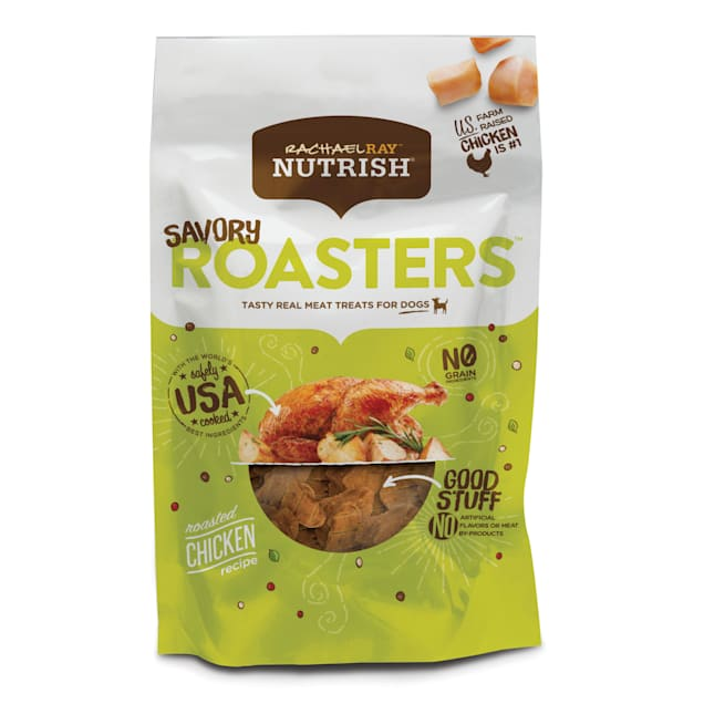 Rachael Ray Nutrish Savory Roasters Grain Free Roasted Chicken Recipe Dog Treats, 12 oz. - Carousel image #1