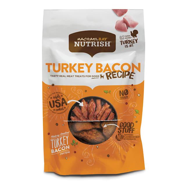 Rachael Ray Nutrish Grain Free Hickory Smoked Turkey Bacon Recipe Dog Treats, 12 oz. - Carousel image #1