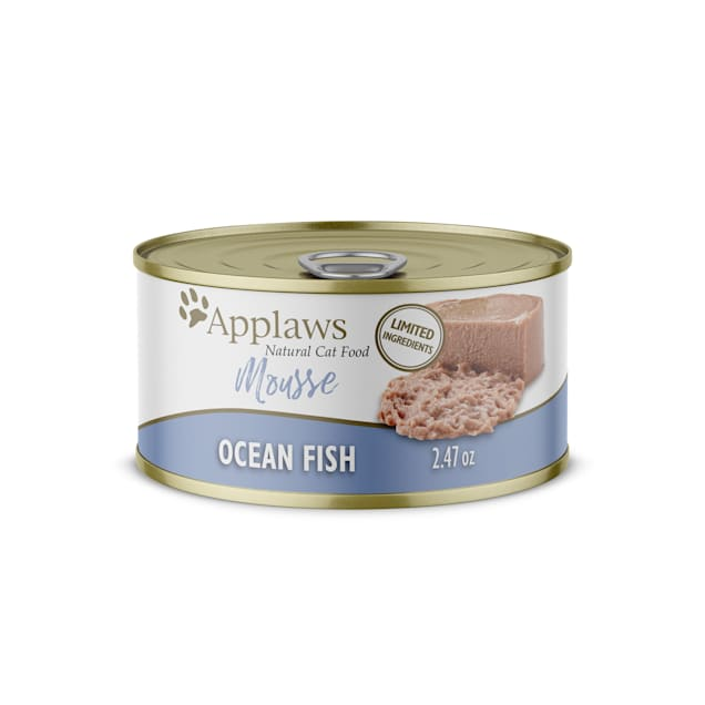 Applaws Natural Oceanfish Mousse Wet Cat Food, 2.47 oz., Case of 24 - Carousel image #1