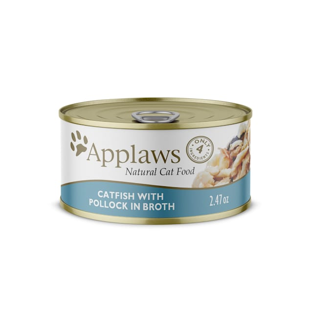 Applaws Natural Catfish with Pollock in Broth Wet Cat Food, 2.47 oz., Case of 24 - Carousel image #1
