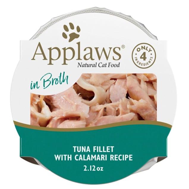 Applaws Natural Tuna Fillet with Calamari with Broth, Peel & Serve Wet Cat Food, 2.12 oz., Case of 18 - Carousel image #1