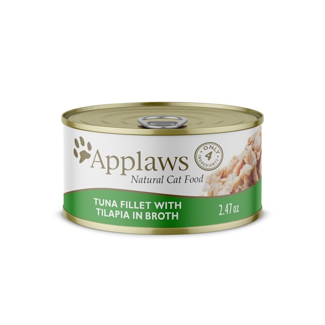 Applaws Natural Tuna with Tilapia Wet Cat Food, 2.47 oz., Case of 24 - Carousel image #1