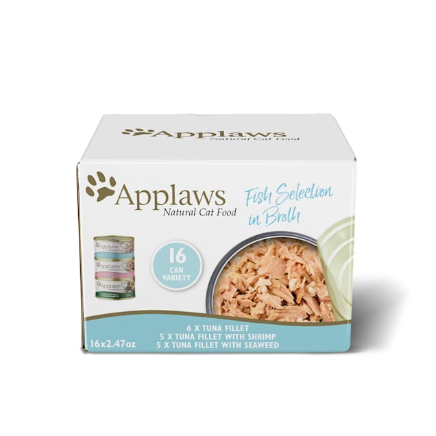 Applaws Fish Selection in Broth Multipack Wet Cat Food, 2.47 oz., Count of 16 - Carousel image #1