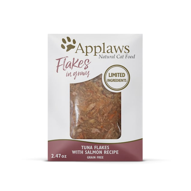Applaws Tuna Flakes with Sockeye Salmon in Gravy Wet Cat Food, 2.47 oz., Case of 12 - Carousel image #1