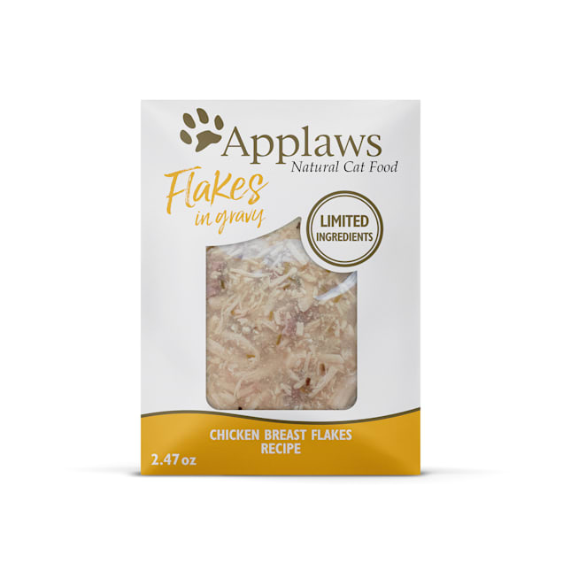 Applaws Chicken Flakes in Gravy Wet Cat Food, 2.47 oz., Case of 12 - Carousel image #1