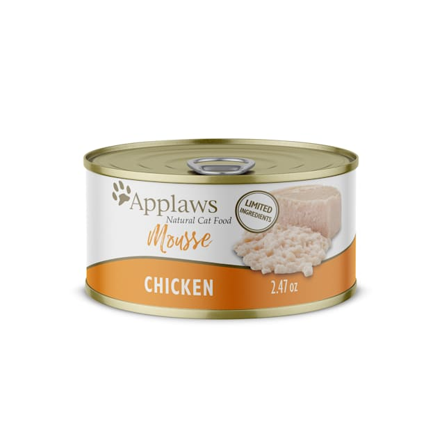 Applaws Natural Chicken Mousse Wet Cat Food, 2.47 oz., Case of 24 - Carousel image #1
