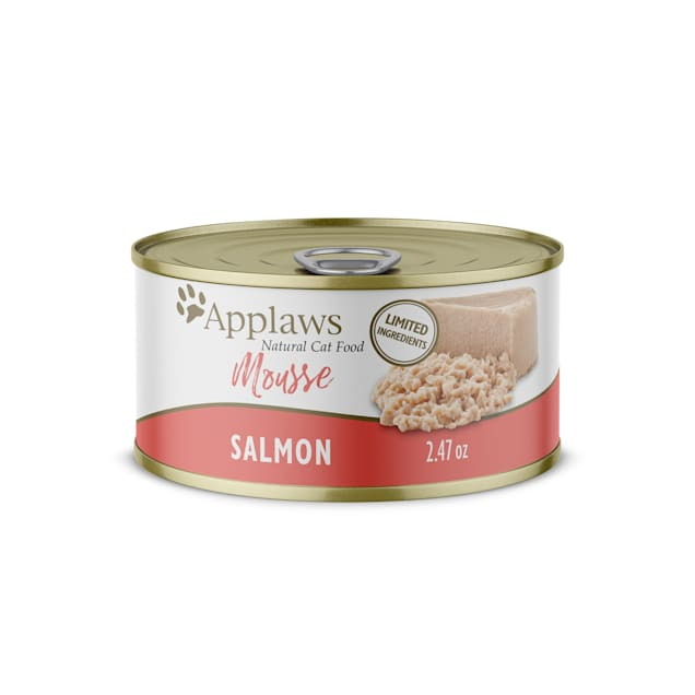 Applaws Salmon Mousse Wet Cat Food, 2.47 oz., Case of 24 - Carousel image #1