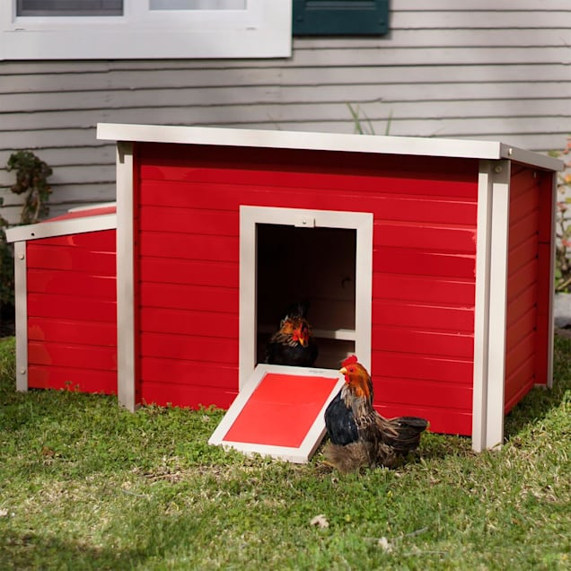 "New Age Pet ecoFLEX Fontana Chicken Barn in Red, 29.4"" L X 52.4"" W X 29.1"" H - Carousel image #1"