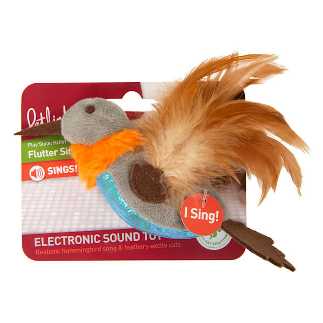 Petlinks Flutter Singer Hummingbird Electronic Sound Cat Toy, Small - Carousel image #1