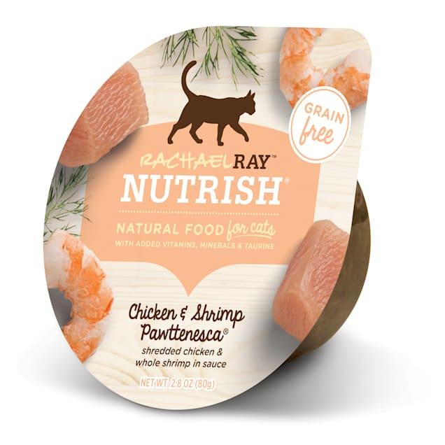 Rachael Ray Nutrish Natural Grain Free Chicken & Shrimp Pawttenesca Wet Cat Food, 2.8 oz., Case of 24 - Carousel image #1