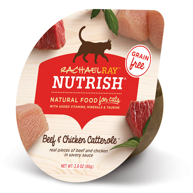Rachael Ray Nutrish Natural Grain Free Beef & Chicken Catterole Wet Cat Food, 2.8 oz., Case of 12 - Carousel image #1