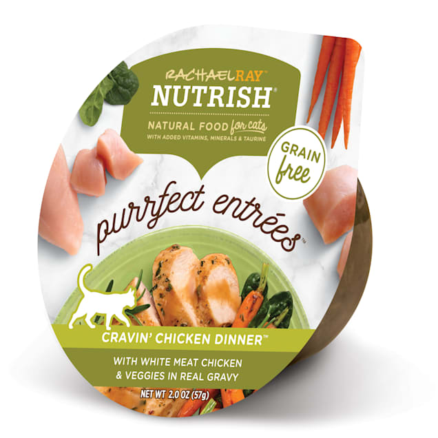 Rachael Ray Nutrish Purrfect Entrees Grain Free Natural Chicken & Veggies in Real Gravy Wet Cat Food, 2 oz., Case of 24 - Carousel image #1