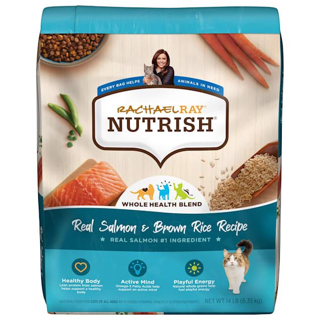 Rachael Ray Nutrish Natural Salmon & Brown Rice Recipe Dry Cat Food, 14 lbs. - Carousel image #1
