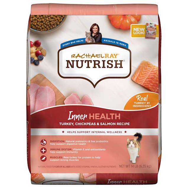 Rachael Ray Nutrish Inner Health Natural Turkey with Chickpeas & Salmon Recipe Dry Cat Food, 14 lbs. - Carousel image #1
