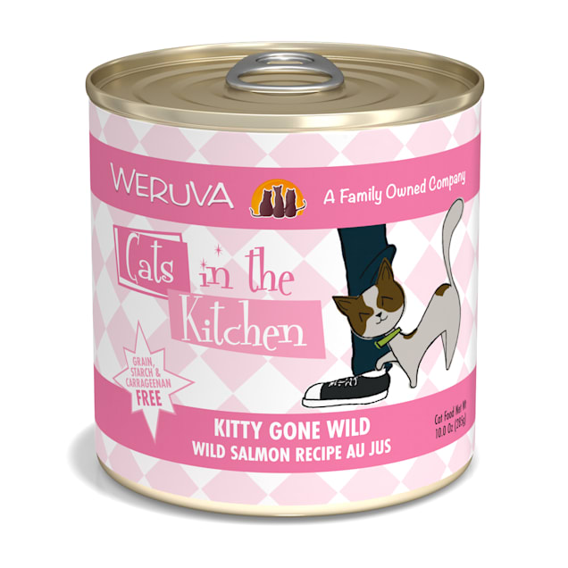 Cats in the Kitchen Kitty Gone Wild Wild Salmon Recipe Au Jus Wet Cat Food, 10 oz., Case of 12 - Carousel image #1