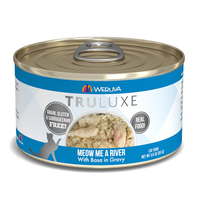 Weruva TruLuxe Meow Me a River with Basa in Gravy Wet Cat Food, 3 oz., Case of 24 - Carousel image #1
