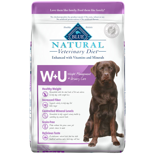 Blue Buffalo Natural Veterinary Diet W+U Weight Management + Urinary Care Dry Dog Food, 22 lbs. - Carousel image #1