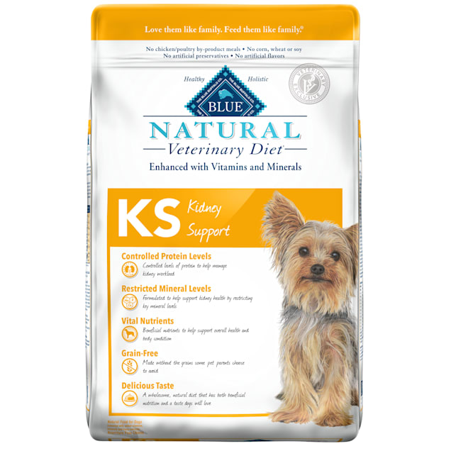 Blue Buffalo Natural Veterinary Diet KS Kidney Support Dry Dog Food, 22 lbs. - Carousel image #1