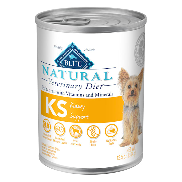 Blue Buffalo Natural Veterinary Diet KS Kidney Support Canned Dog Food, 12.5 oz., Case of 12 - Carousel image #1