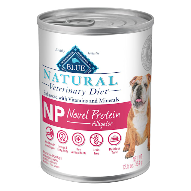 Blue Buffalo Natural Veterinary Diet NP Novel Protein-Alligator Wet Dog Food, 12.5 oz., Case of 12 - Carousel image #1