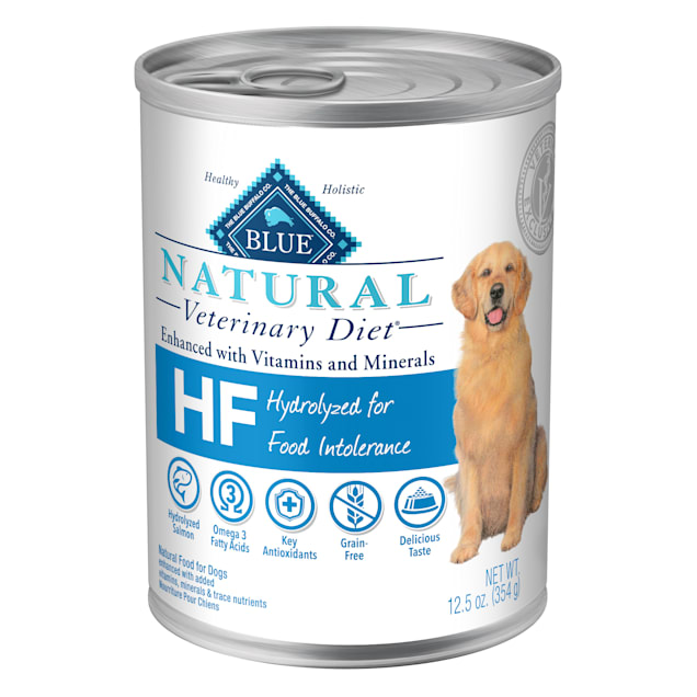 Blue Buffalo Natural Veterinary Diet HF Hydrolyzed for Food Intolerance Wet Dog Food, 12.5 oz., Case of 12 - Carousel image #1