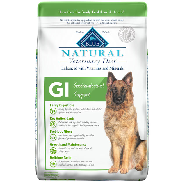 Blue Buffalo Natural Veterinary Diet GI Gastrointestinal Support Dry Dog Food, 22 lbs. - Carousel image #1