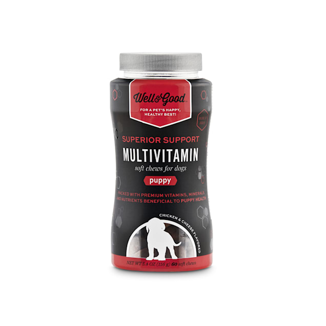 Well & Good Superior Support Multivitamin Soft Chews for Puppies, Count of 60 - Carousel image #1