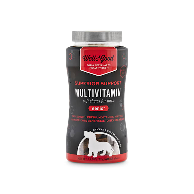 Well & Good Superior Support Multivitamin Soft Chews for Senior Dogs, Count of 60 - Carousel image #1