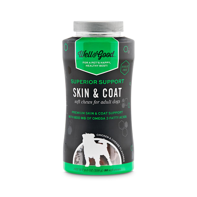 Well & Good Superior Support Skin & Coat Soft Chews for Adult Dogs, Count of 30 - Carousel image #1