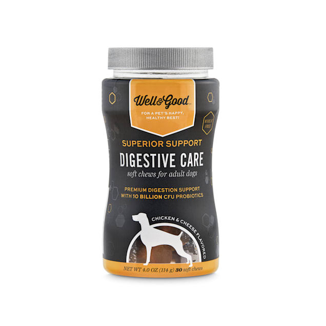 Well & Good Superior Support Digestive Care Soft Chews for Adult Dogs, Count of 30 - Carousel image #1