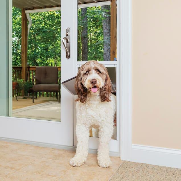 "PetSafe Freedom Aluminum Patio Panel Sliding White Glass Pet Door, 2.31"" W X 81.5""H - Carousel image #1"