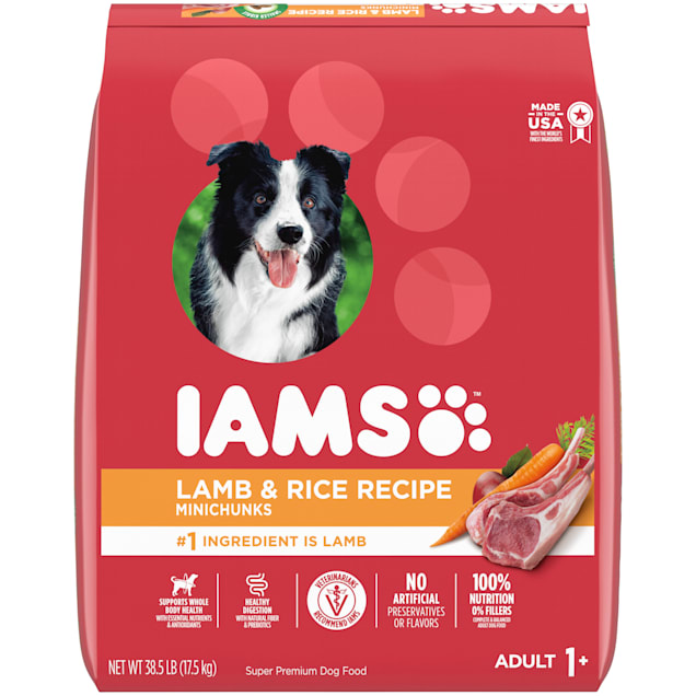 Iams ProActive Health High Protein with Lamb and Rice Adult Dry Dog Food, 38.5 lbs. - Carousel image #1