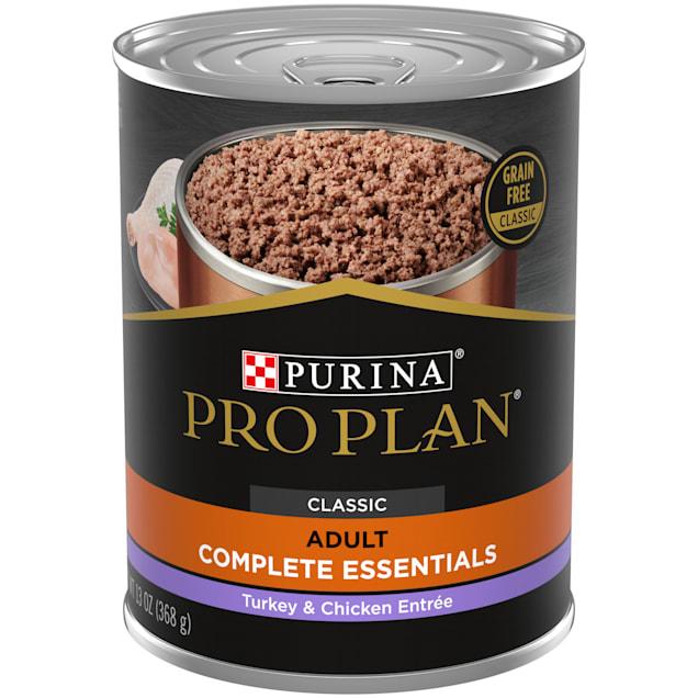 Purina Pro Plan Grain Free, High Protein Savor Classic Turkey & Chicken Entree Wet Dog Food, 13 oz., Case of 12 - Carousel image #1